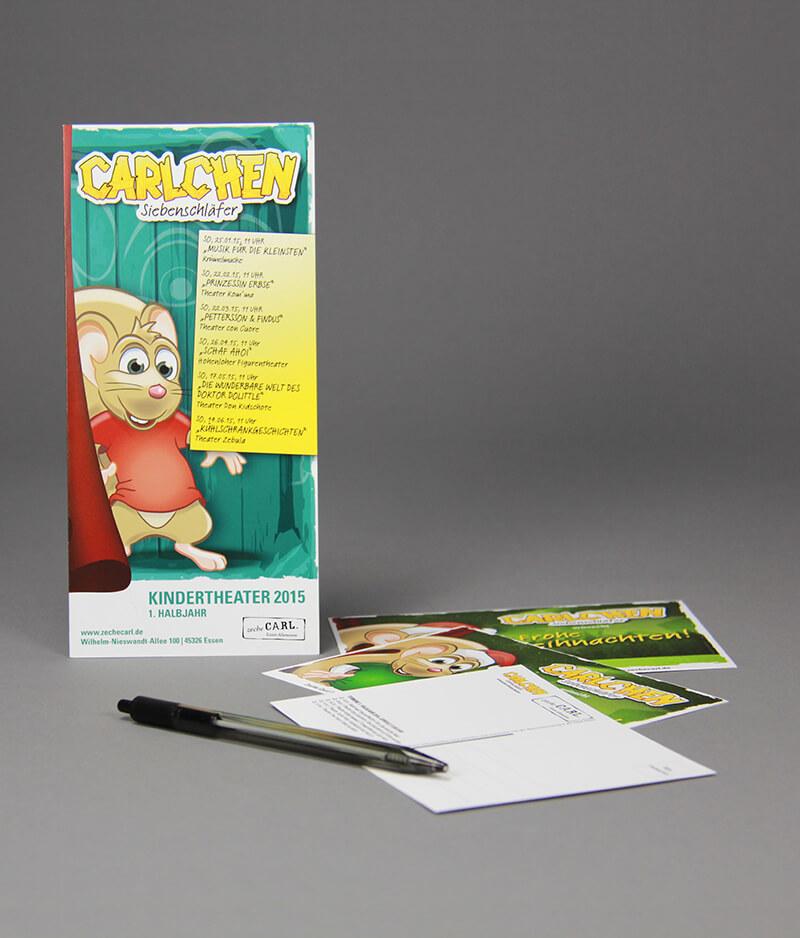 Zeche Carl Flyer und Postkarte