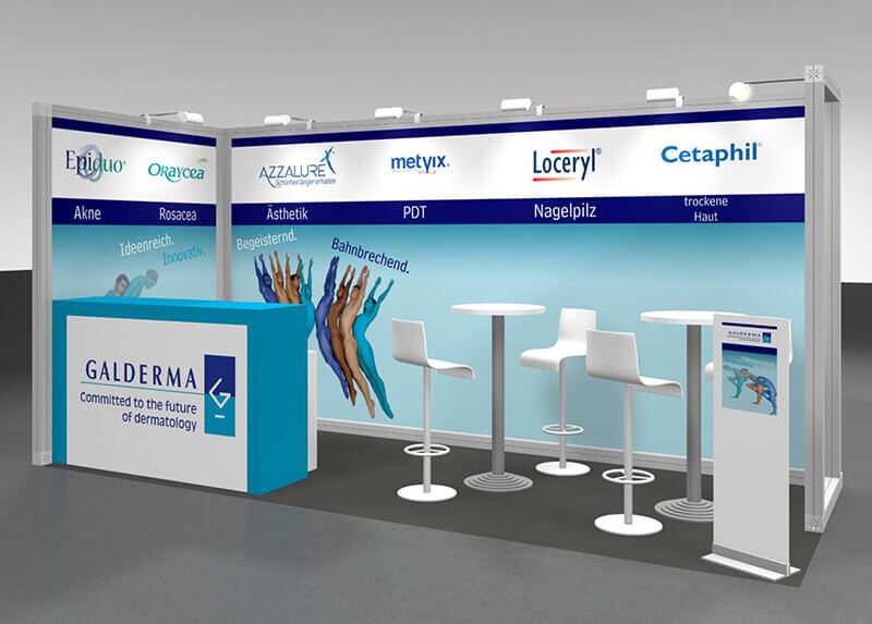 Galderma Laboratorium Messestand
