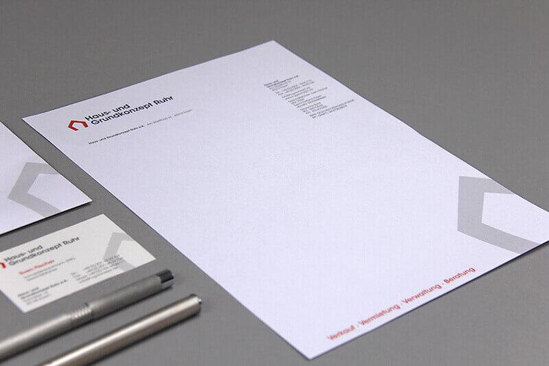 Haus- und Grundkonzept Ruhr Detailaufnahme Geschäftsausstattung