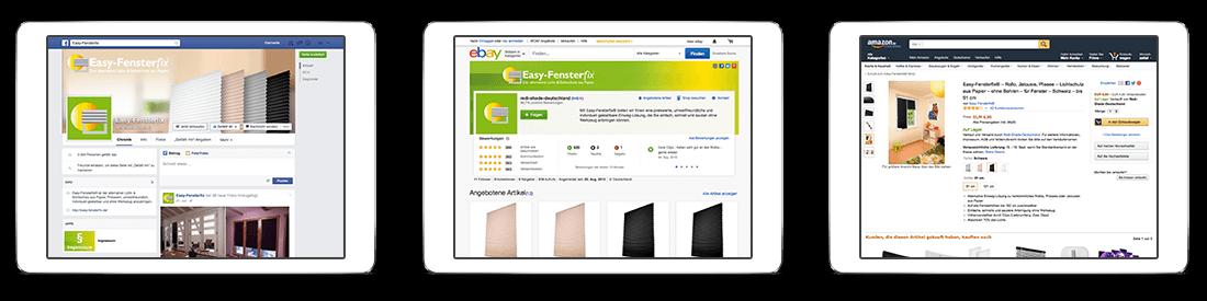 Redi Shade Deutschland facebook, eBay und Amazon
