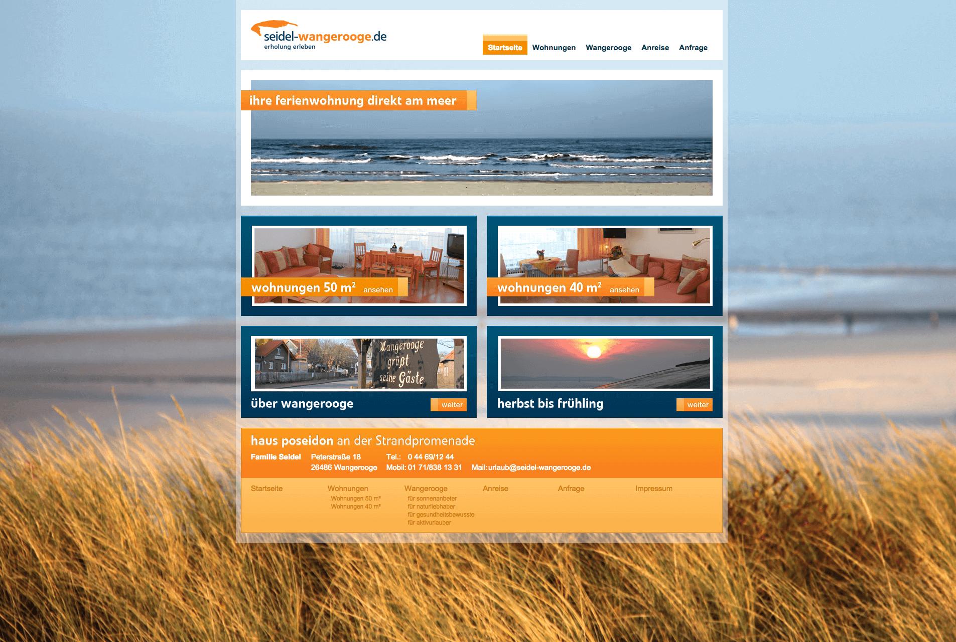 Seidel Wangerooge Webdesign