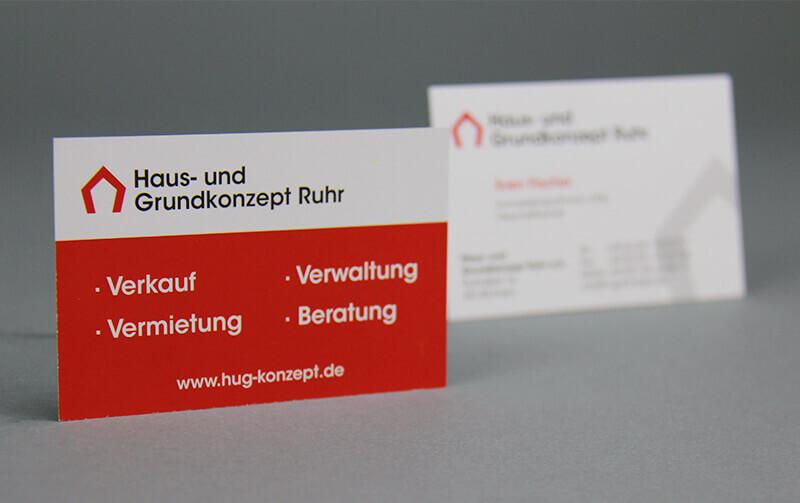 Haus- und Grundkonzept Ruhr Visitenkarte