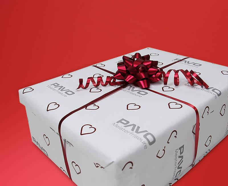 PAVO Meisterfriseure Geschenkpapier