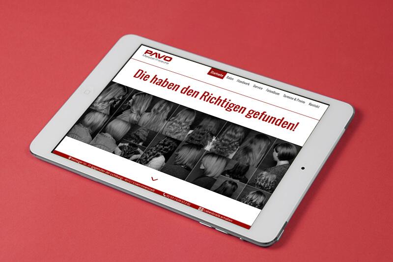 PAVO Meisterfriseure Responsive Webdesign