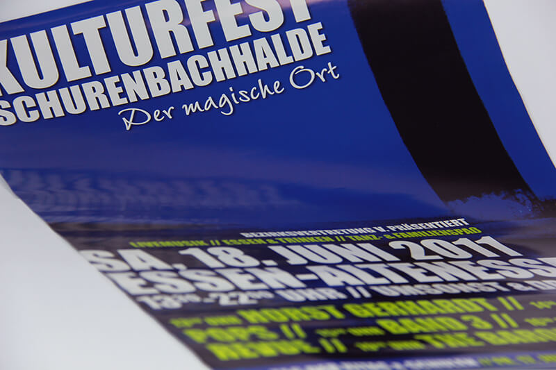 Kulturfest Schurenbachhalde Visitenkarte Plakat