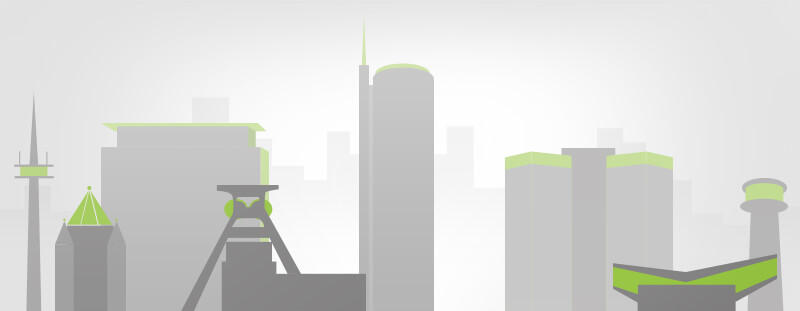 Glück Auf Immobilienmakler Illustration