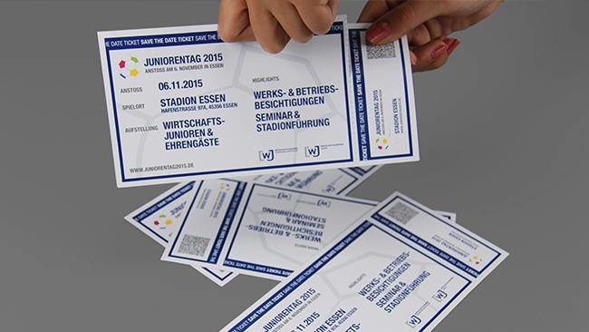 Einladungs-Tickets für den Juniorentag 2015 in Essen