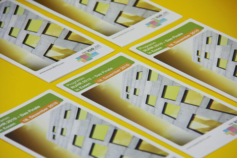 Stadt Essen Visitenkarte Faltblatt Titelseite
