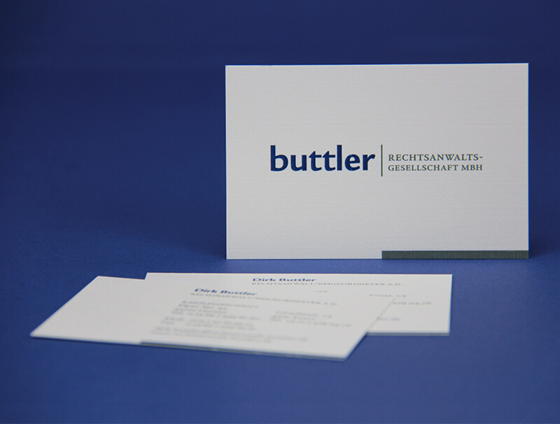 Buttler Rechtsanwaltsgesellschaft Visitenkarte