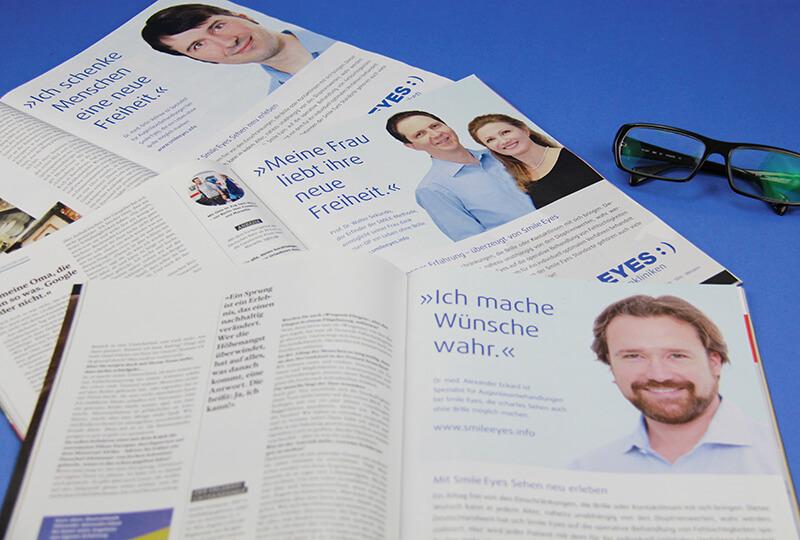 Smile Eyes Augenkliniken Anzeigenkampagne