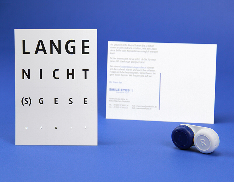 Smile Eyes Augenkliniken Postkarte