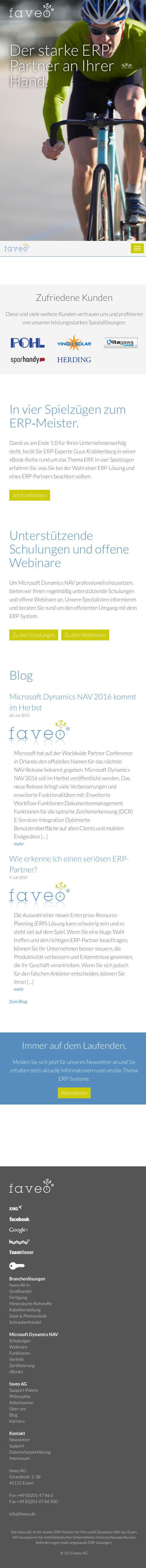 faveo Responsive Webdesign