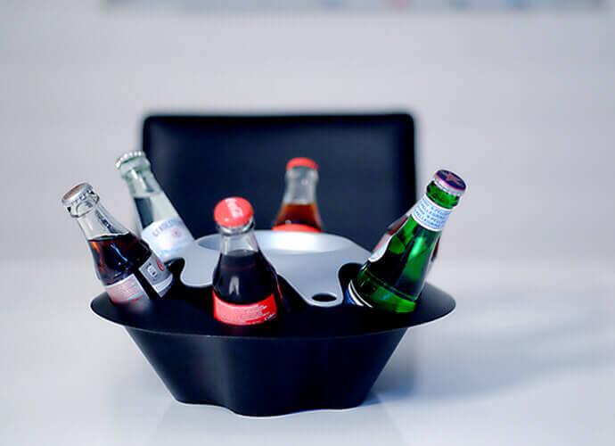 Getränke eiskalt bei uns im Konferenzraum gekühlt