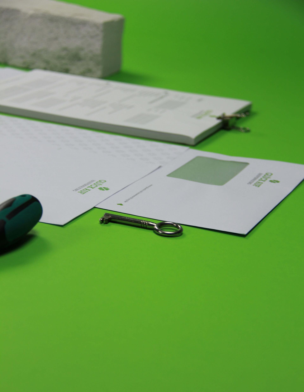 Glück Auf Hausverwaltung Briefbogen und Briefumschlag
