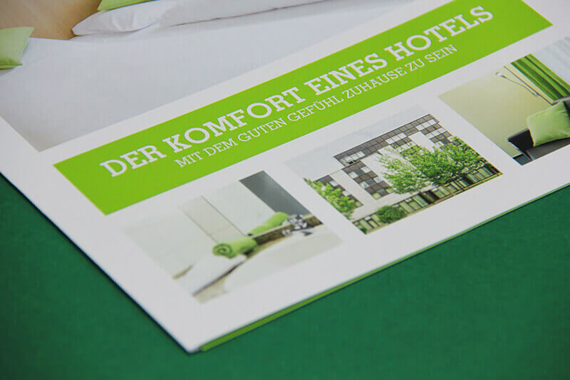 Glück Auf Appartements Detailaufnahme Faltblatt