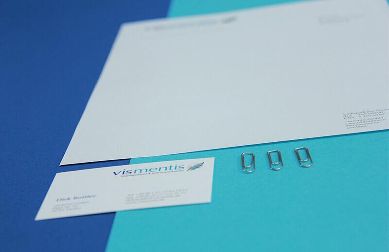 vismentis Briefbogen und Visitenkarte