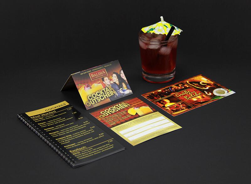 Baliha Dance Club Getränkekarte Klappvisitenkarte Postkarte