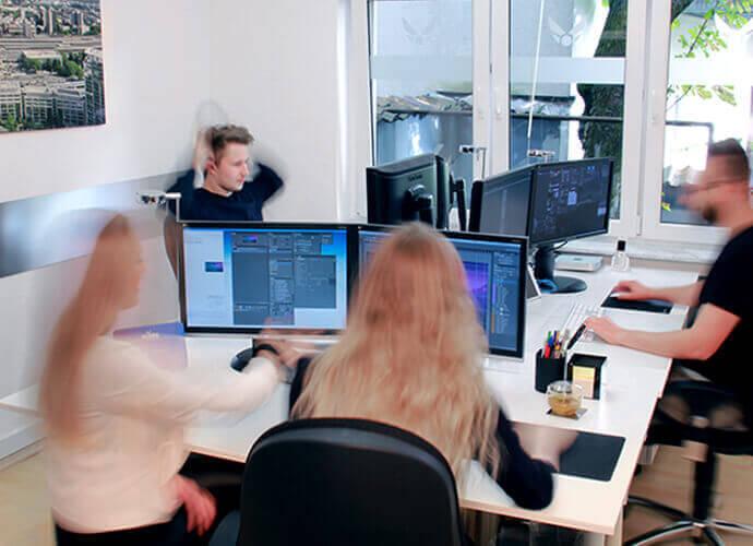 Wie eine Teamwork bei uns in der Werbeagentur aussieht