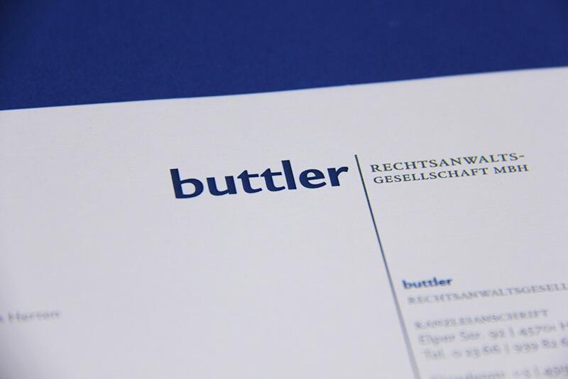 Buttler Rechtsanwaltsgesellschaft Detailaufnahme Briefbogen