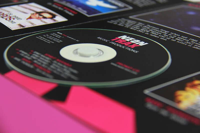 Neon Trax Detailaufnahme CD
