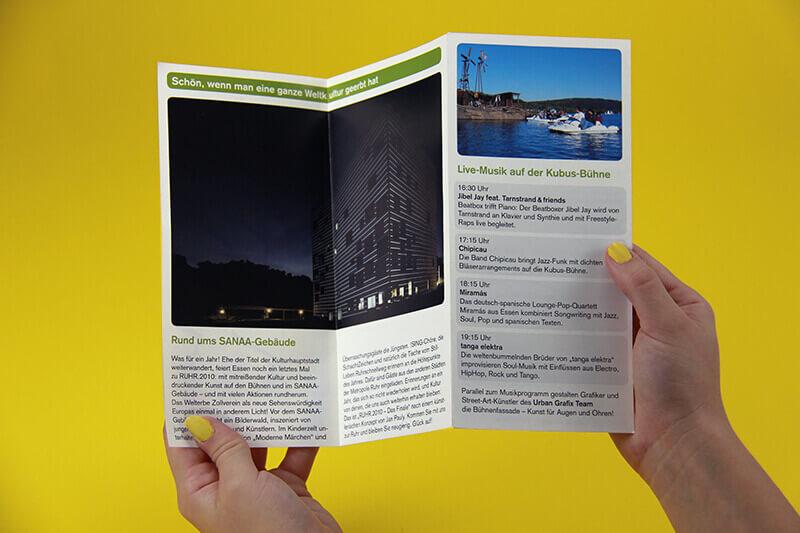 Stadt Essen Faltblatt Innenseite