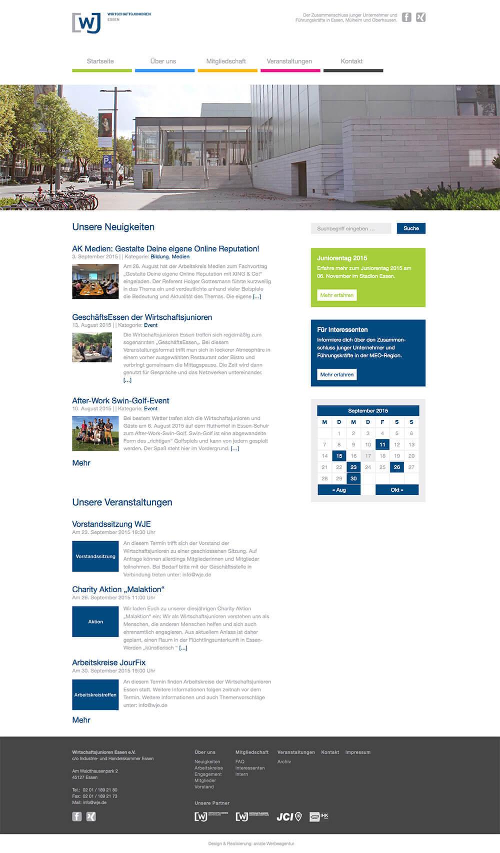 Wirtschaftsjunioren Essen Website