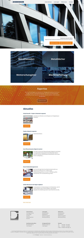 Dieringer Blechbearbeitung Webdesign