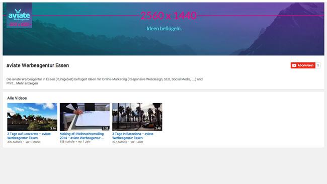 youtube-kanalbild-sozialel-medien-video-kanal-bildgroesse-aviate-werbeagentur-masse-profil-bild-format-essen