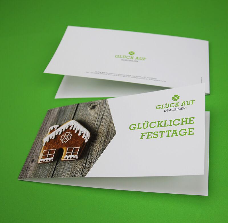 Glück Auf Immobilienmakler Postkarte