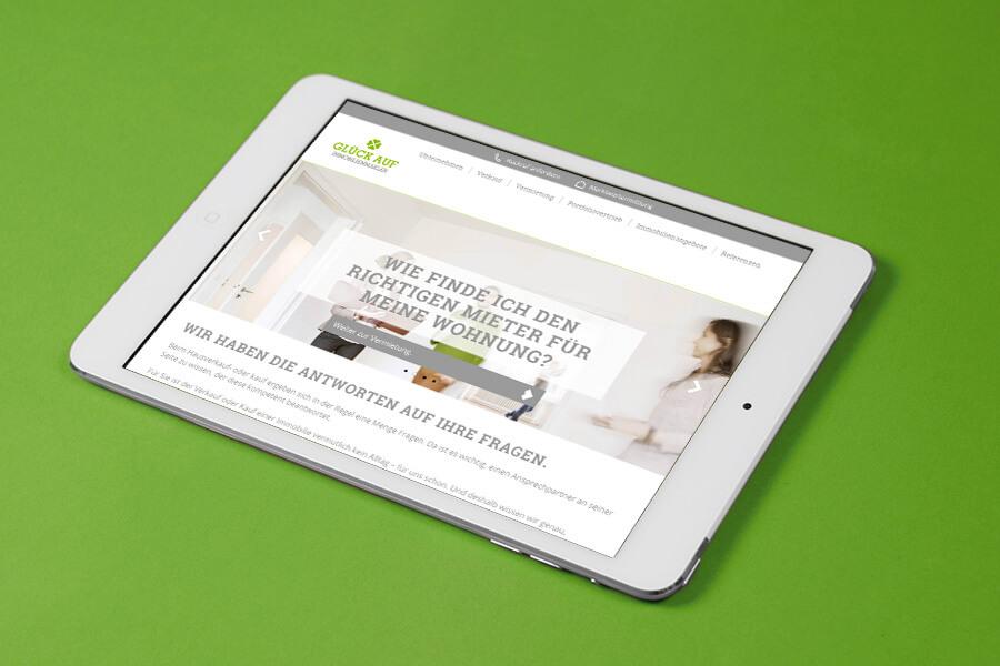 Glück Auf Immobilienmakler Responsive Webdesign