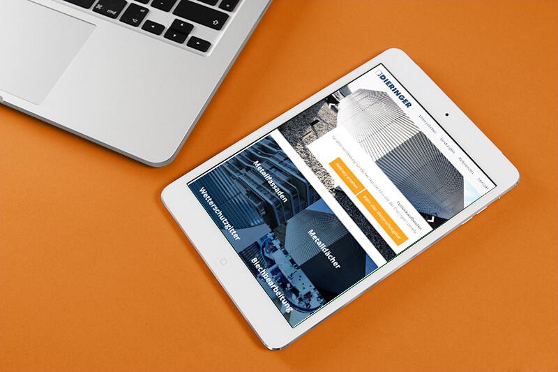 Dieringer Blechbearbeitung Responsive Webdesign