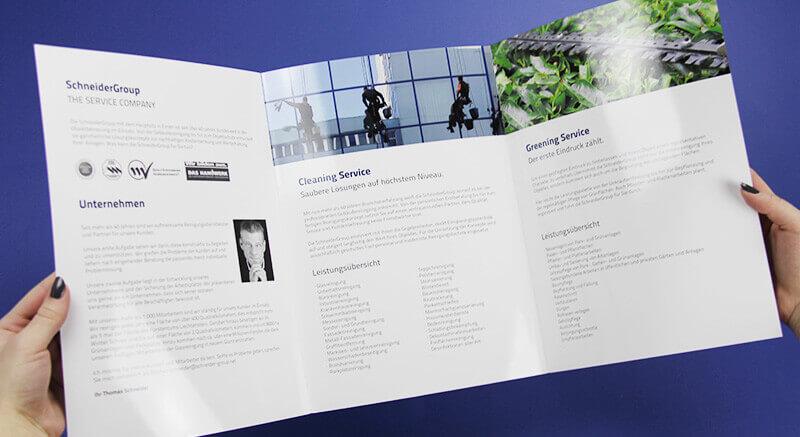 Schneider Group Innenseite Faltblatt